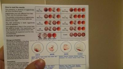 血液型格安キット 説明書。 ふつうに使える。